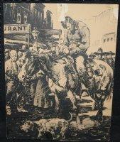 Civil War Soldier on Horseback Western Art Comic Art