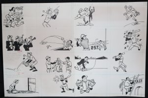 Baseball Art Illos - #s 1-16 Comic Art