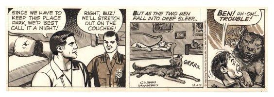 Buz Sawyer Daily Strip - Startled Dog - 8/10/1984 Comic Art