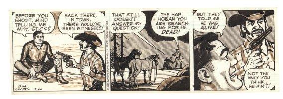Buz Sawyer Daily Strip - Held Hostage - 4/22/1985 Signed Comic Art