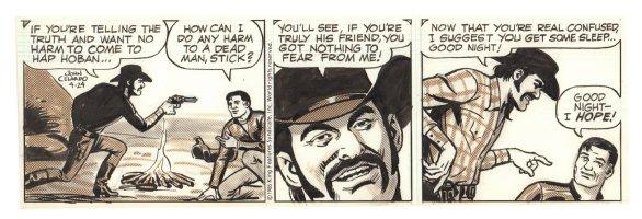 Buz Sawyer Daily Strip - Buz at Gunpoint - 4/24/1985 Signed Comic Art