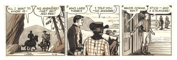 Buz Sawyer Daily Strip - Stick and a Stranger - 4/25/1985 Signed Comic Art