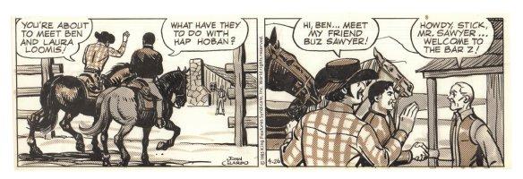 Buz Sawyer Daily Strip - Stick, Ben, and Buz - 4/26/1985 Signed Comic Art