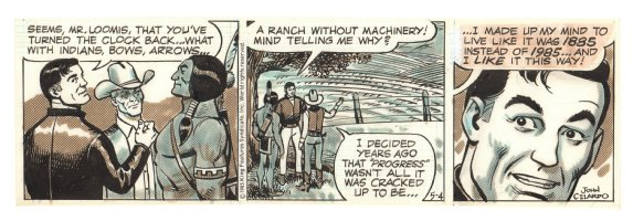 Buz Sawyer Daily Strip - Indian - 5/4/1985 Signed Comic Art