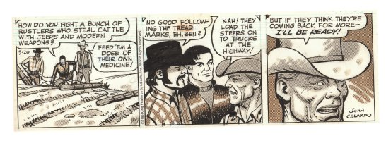 Buz Sawyer Daily Strip - Buz and Ben - 5/20/1985 Signed Comic Art