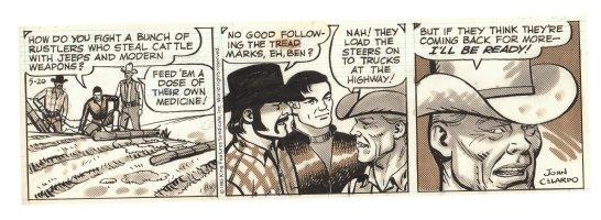 Buz Sawyer Daily Strip - Buz and Ben - 5/20/1985 Signed Comic Art