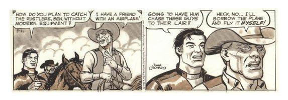 Buz Sawyer Daily Strip - Buz and Ben - 5/21/1985 Signed Comic Art