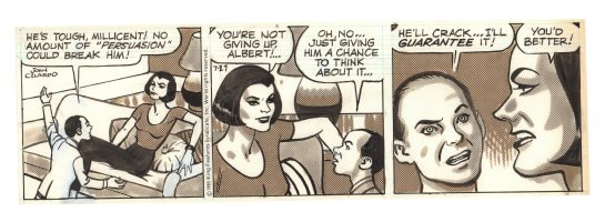 Buz Sawyer Daily Strip - Millicent - 7/27/1985 Signed Comic Art