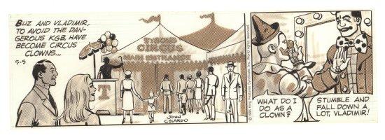 Buz Sawyer Daily Strip - Circus - 5/5/1986 Signed Comic Art
