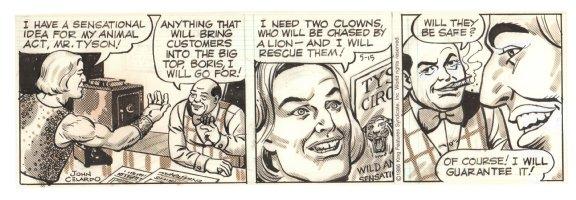 Buz Sawyer Daily Strip - Lion Tamer - 5/15/1986 Signed Comic Art
