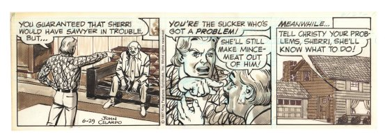 Buz Sawyer Daily Strip - Argument - 6/29/1987 Signed Comic Art