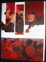 Elon Cody Starbuck Painted Art - LA - Fight in Nightclub Comic Art