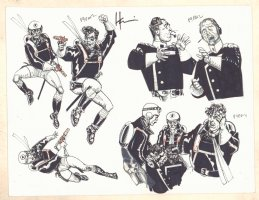 American Flagg Model Sheet - P9PANZ - Signed Comic Art