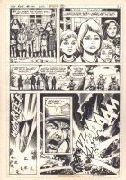 Sgt. Rock #309 p.7 - Kids with Nuns and Explosion - 1977 Signed Comic Art