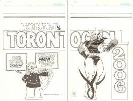 Toronto Comic Con DPS - Cerebus and Wolveroach - 2006 Signed Comic Art