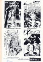 Heritage Auctions IDW Covers Auction Print - Doctor Who, Thunder Agents, Judge Dredd, & X-Files - 2013 Signed by Dave Sim Comic Art