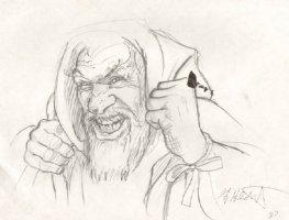 Wizard Design Pencil art - Signed Comic Art