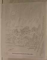 Astronauts with Nude Alien Babes Playboy Gag Prelim - Signed  Comic Art