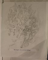 Mingling at Orgy Playboy Gag Prelim - Signed  Comic Art