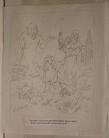 Genie with Babe Playboy Gag Prelim - Signed  Comic Art
