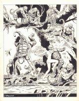 Ghita Portfolio Plate Art - 1985 Signed Comic Art