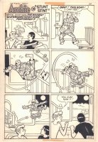 Archie's Joke Book #236 ''Stunt Stint'' One Pager - 1977 Comic Art