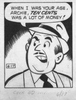 Archie 6/17/?? (70's) LA Daily - Signed Comic Art