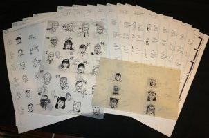 DC Universe Trading Card Portrait Art - LA - 16 Page LOT - George Perez-esque Comic Art