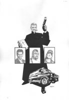 A-Team: Shotgun Wedding #1 Cover - signed - 2010 Comic Art