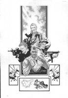 A-Team Trade Cover Comic Art