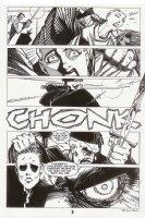 Nexus #67 p.3 - CHONK Samurai Decapitation - 1990 Signed Comic Art