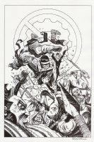 Nexus #67 Cover - Stan Korivitsky as the new Nexus Action - 1990 Signed Comic Art