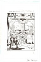 General Mills / JLA / Cyborg p.8 - Darkseid with Cyborg Imprisoned - Signed Comic Art