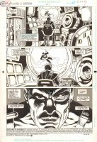 Adventures of Superman #477 p.1 - Superman & Linear Man - 1991 Comic Art