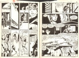 Booster Gold #17 pgs.1 & 2 - Sold as a pair - 1987 Signed Comic Art