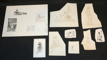 Krenkel Studios Copies LOT  Comic Art
