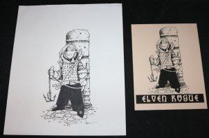 Elf Warrior RPG Art - LA - Signed Comic Art