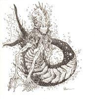 Water Monster RPG Art - Signed  Comic Art