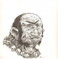 Giant Cyclops RPG Design Art - Signed Comic Art