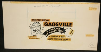 Gagsville Packaging Art - 1960's Comic Art