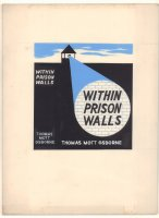 Within Prison Walls Book Painted Cover Illo - 1960s Comic Art