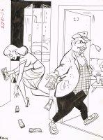 Golddigger Visual Gag - 1960's Humorama (6 x 8 Comic Art