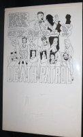 Death Patrol - LA - Hitler, 6 Babes, and Other Characters - Signed Comic Art