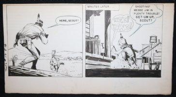 Tonto #12 p.16 Double Panel - Riding into Town Fast  Comic Art