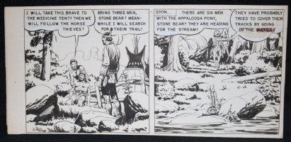 Tonto #9 Double Panel - Tracking  Comic Art