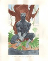 Black Panther Color Commission - 2004 Signed Comic Art