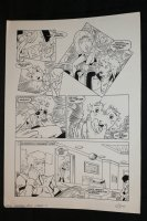 Robotech Masters #12 p.11 - The Barracks - 1986 Signed Comic Art