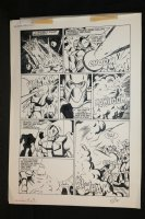 Robotech Masters #17 p.19 - Action - 1987 Signed Comic Art