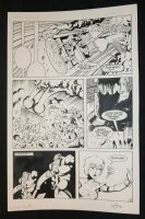 Robotech Masters #19 p.17 - Crash - 1987 Signed Comic Art