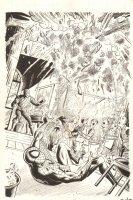 The Sinister Six: You Are Spider-Man #1 Paperback Splash - Spidey vs. The Shocker - 1996 Signed Comic Art
